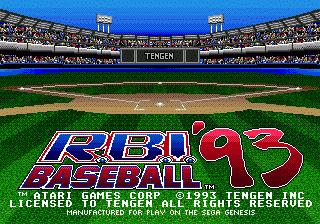 RBI Baseball 93